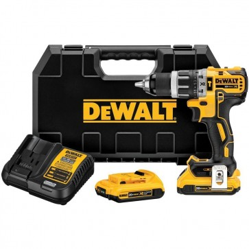 DeWalt 20V MAX XR 2.0 Ah Cordless Lithium-Ion 1/2 in. Brushless Compact 3-Speed Hammer Drill Kit