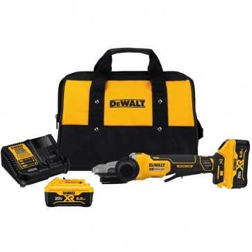 DeWalt 5 in. 125 mm 20V MAX XR Brushless Flathead Paddle Switch Small Angle Grinder Kit with Kickback Brake