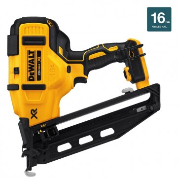 DeWalt 20V MAX Cordless Lithium-Ion 16 Gauge 2-1/2 in. 20 Degree Angled Finish Nailer (Bare Tool)