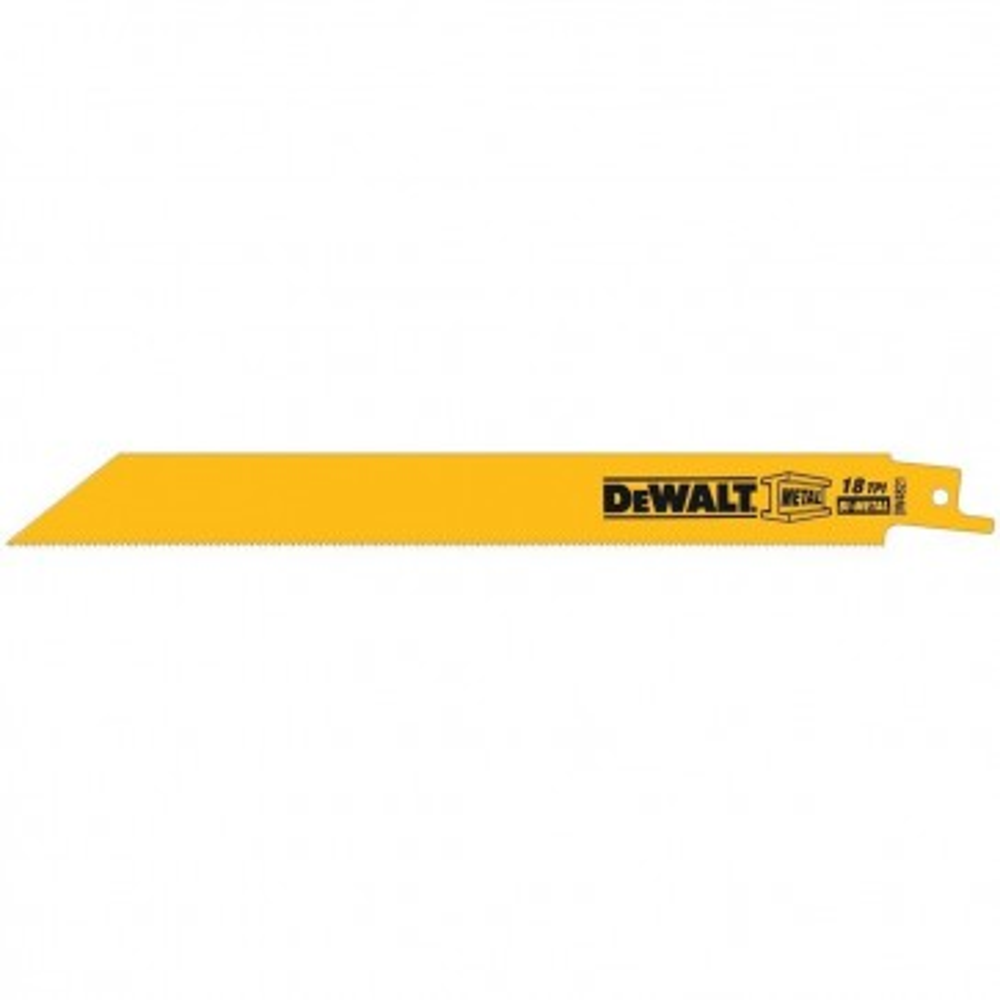 "DeWalt 8"" 18 TPI Scroll Cutting Bi-Metal Reciprocating Saw Blade (25 Pack)"