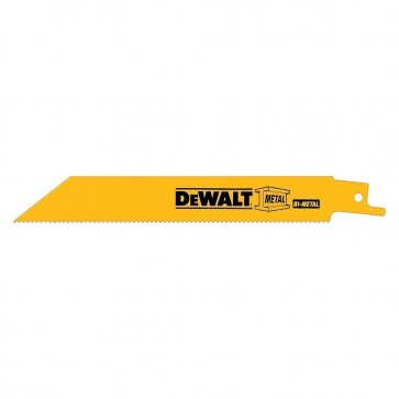 "DeWalt 12"" 10/14 TPI Scroll Cutting Bi-Metal Reciprocating Saw Blade (25 Pack)"