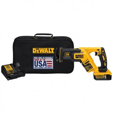 DeWalt 20V MAX 5.0 Ah Cordless Lithium-Ion XR Brushless Compact Reciprocating Saw Kit