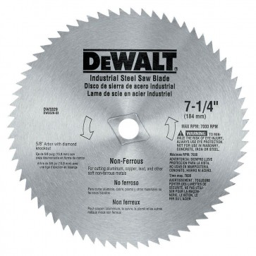 DeWalt 7-1/4 in. 68-Teeth Steel Non-Ferrous Steel Saw Blade