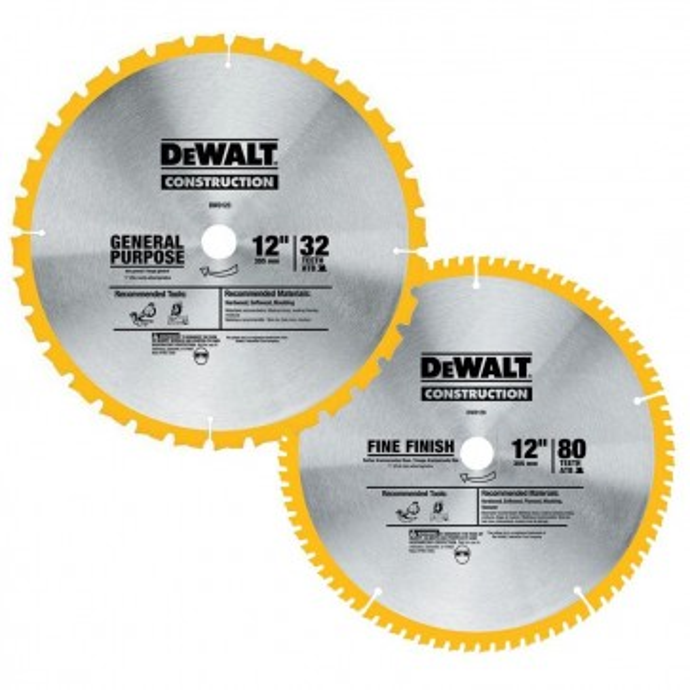 DeWalt 12 in. Series 20 Circular Saw Two Blade Combo Pack