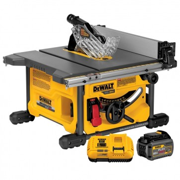 DeWalt 60V MAX Cordless Lithium-Ion 8-1/4 in. Table Saw Kit with FLEXVOLT Battery