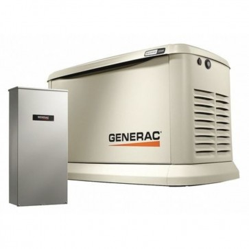 Generac 22,000- Watt Air Cooled Standby Generator with Whole House 200 Amp Automatic Transfer Switch