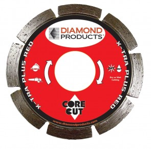 "Diamond Products 4"" x .070 X-Tra Plus Red Small Diameter Segmented Blade"