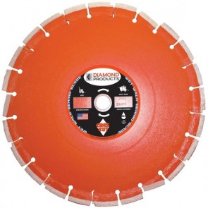 "Diamond Products 18"" x .125 Heavy Duty Orange Cured Concrete Blade"