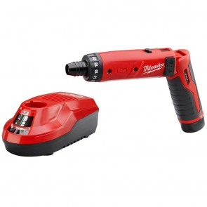 Milwaukee 4V Cordless M4 Lithium-Ion 1/4 in. Hex Screwdriver with 2.0 Ah RedLithium Battery