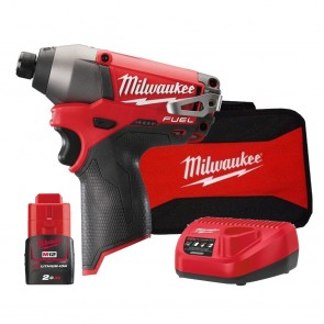 Milwaukee M12 FUEL Cordless Lithium-Ion 1/4 in. Hex Impact Driver