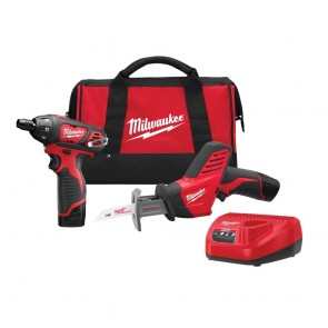 Milwaukee M12 Cordless Lithium-Ion Recip Saw and Screwdriver Combo Kit
