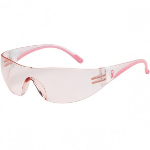 PIP Eva® Rimless Safety Glasses with Clear / Pink Temple, Pink Lens and Anti-Scratch Coating