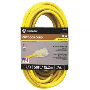 Southwire 12/3 50' SJTW Extension Cord