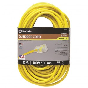 Southwire 12/3 100' SJTW Extension Cord