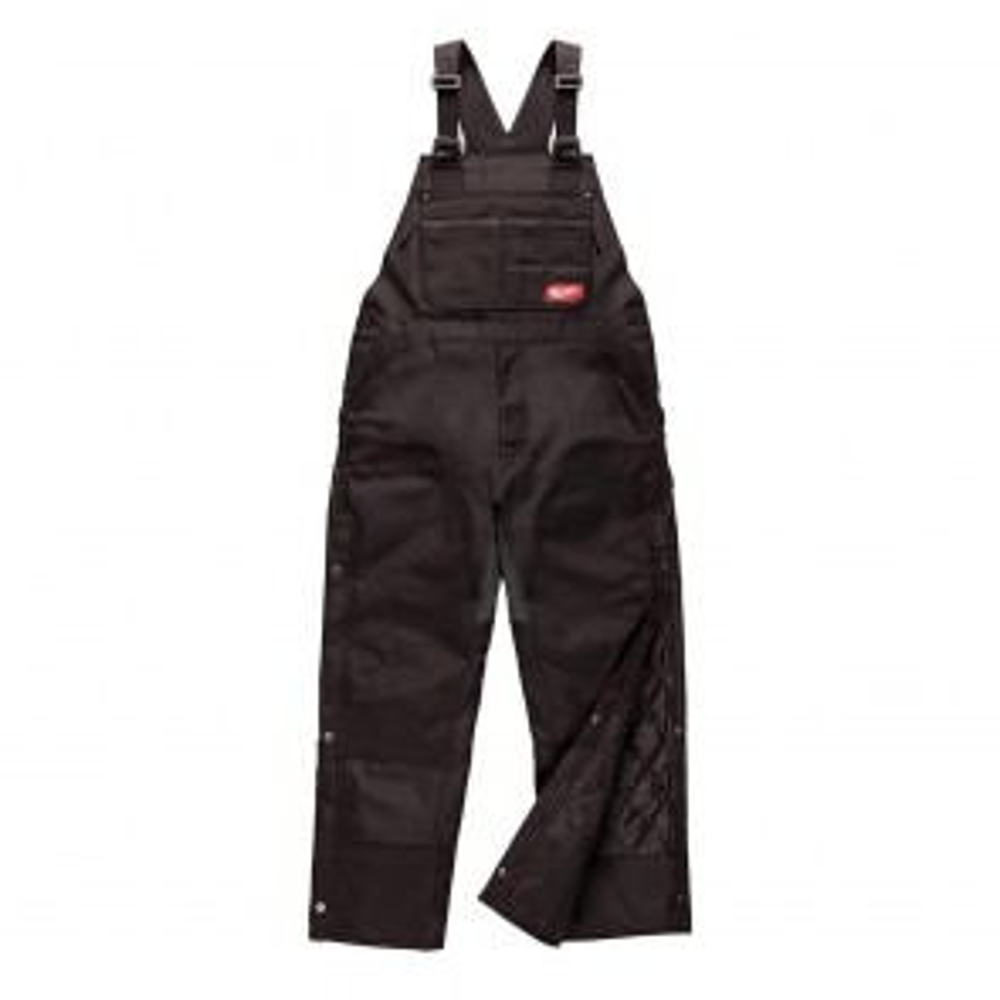 Milwaukee GRIDIRON™ Zip-to-Thigh Bib Overall, 2XL, Tall, Black