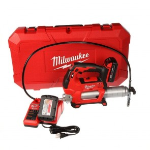 Milwaukee M18 Cordless Lithium-Ion 2-Speed Grease Gun with 2 Batteries