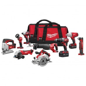 Milwaukee M18 Cordless Lithium-Ion 9-Tool Combo Kit