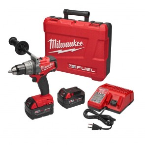 Milwaukee FUEL M18 5.0 Ah Cordless Lithium-Ion 1/2 in. Drill Driver Kit