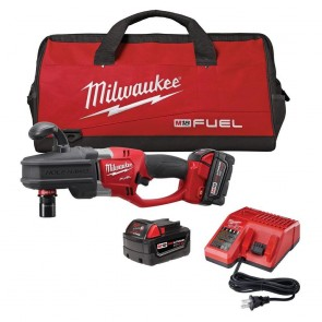 Milwaukee M18 FUEL Cordless Lithium-Ion HOLE HAWG Right Angle Drill with QUIK-LOK Kit