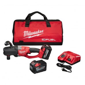 Milwaukee M18 FUEL 9.0 Ah Cordless Lithium-Ion Quik-Lok Hole Hawg Right Angle Drill Kit