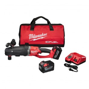 Milwaukee M18 FUEL 9.0 Ah Cordless Lithium-Ion Quik-Lok Super Hawg Right Angle Drill Kit