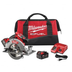 Milwaukee M18 FUEL Cordless Lithium-Ion 7-1/4 in. Circular Saw Kit with 2 Batteries