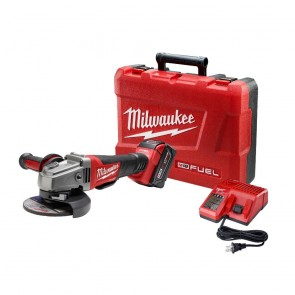 Milwaukee M18 FUEL Cordless 4-1/2 in. - 5 in. Paddle Switch Grinder with REDLITHIUM Battery