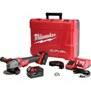 Milwaukee M18 FUEL Cordless 4-1/2 in. - 5 in. Braking Angle Grinder Kit