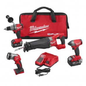Milwaukee M18 FUEL Cordless Lithium-Ion 4-Tool Combo Kit