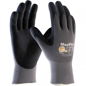 PIP MaxiFlex® Ultimate™ Seamless Knit Nylon / Lycra Glove with Nitrile Coated MicroFoam Grip on Palm & Fingers, Large