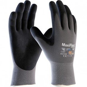 PIP MaxiFlex® Ultimate™ AD-APT™ Seamless Knit Nylon / Lycra Glove with Nitrile Coated MicroFoam Grip on Palm & Fingers and AD-APT™ Technology, Large