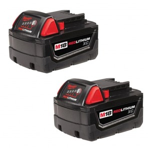 Milwaukee M18 XC High Capacity REDLITHIUM Battery Two Pack