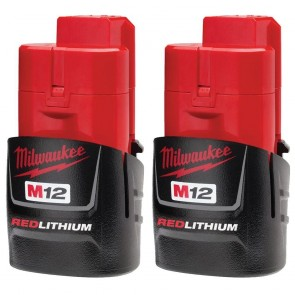 Milwaukee M12 REDLITHIUM Compact Battery Two Pack
