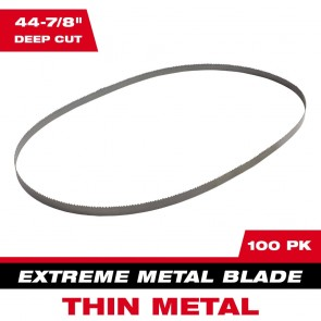 "Milwaukee Extreme Metal Band Saw Blades 12/14"" TPI (100 Pack)"