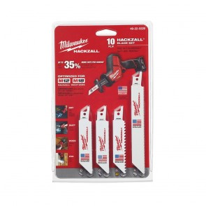 Milwaukee M12 Hackzall General Purpose Blade Set (10pc)