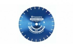 Husqvarna Construction Products 18 Inch by .125 by 1 Drive Pinhole Vanguard II Blue 250V Diamond Blade