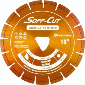 Husqvarna Excel 4000 Series XL6-4000 Ultra Early Entry Diamond Saw Blade, 6x0.100-Inch, Orange