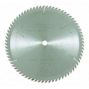 "Hitachi 10"" x 70 Tooth Carbide Finish Circular Saw Blade"