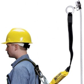 Honeywell Miller 3 ft. SofStop lanyard with Hands-Free Trailing Rope Grab