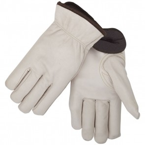 Revco/Black Stallion® Fleece Insulated Cowhide Winter Drivers Glove, Mediun