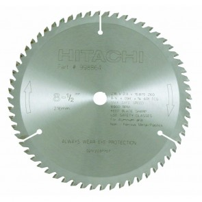 "Hitachi 8-1/2"" x 60 Tooth Carbide Tipped Circular Saw Blade"