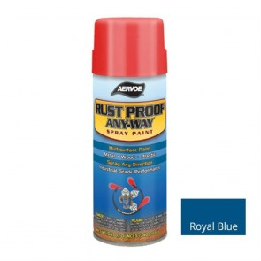 Aervoe Royal Blue Rust Proof Any-Way Spray Paint