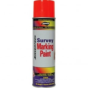Aervoe Florescent Red Survey Marking Paint