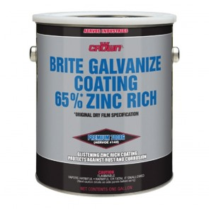 Aervoe Brite Galvanize Coating 65% Zinc Rich, 1 Gallon