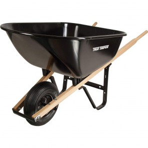 Ames 6 Cubic Foot Steel Medium Duty Wheelbarrow W/ Knobby Tires