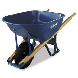 Jackson 6 Cubic Foot Steel Medium Duty Wheelbarrow W/ Foam Tires