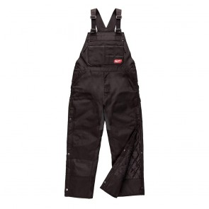 Milwaukee GRIDIRON™ Zip-to-Thigh Bib Overall, Small, Tall, Black