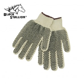 Revco/Black Stallion® Cotton/Polyester String Knit Gloves with Gripping Dots, L