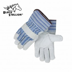 Revco/Black Stallion® Sel Shlder Split Cowhide--Strap Back Standard Leather Palm Work Gloves, Large