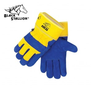 Revco/Black Stallion® Waterproof Lined Insulated Cowhide Winter Work Gloves (Blue),Large